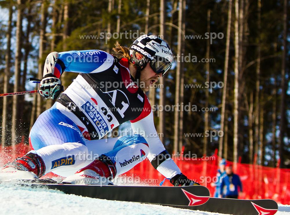 06.02.2011, Hannes-Trinkl-Strecke, Hinterstoder, AUT, FIS World Cup Ski Alpin, Men, Hinterstoder, Riesentorlauf, im Bild Marc Berthod (SUI) // Marc Berthod (SUI) during FIS World Cup Ski Alpin, Men, Giant Slalom in Hinterstoder, Austria, February 06, 2011, EXPA Pictures © 2011, PhotoCredit: EXPA/ J. Feichter