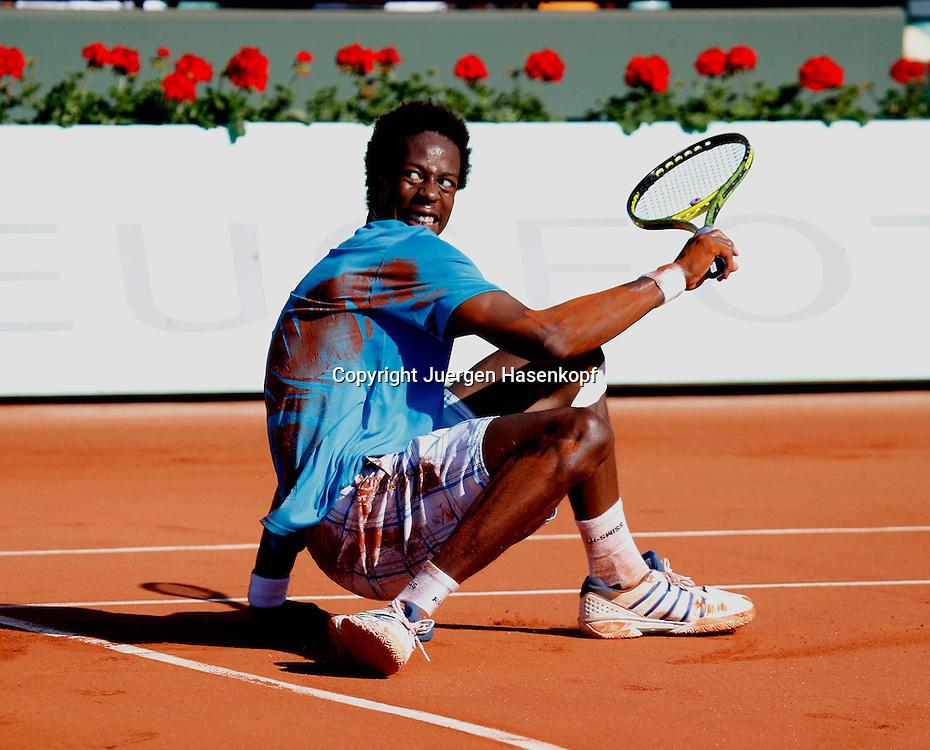 French Open 2010, Roland Garros, Paris, Frankreich,Sport, Tennis, ITF Grand Slam Tournament,  ..Gael Monfils (FRA),..Foto: Juergen Hasenkopf..