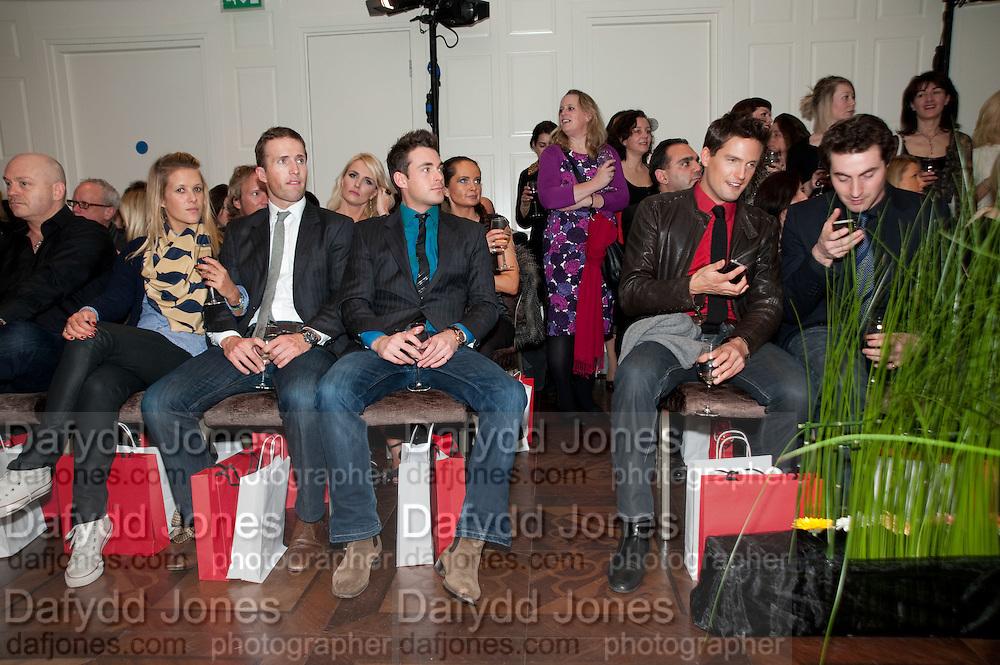 ROSS KEMP; CHARLOTTE TAYLOR; BAND MEMBERS OF BLAKE; HUMPHREY BERNEY; JULES KNIGHT; STEPHEN BOWMAN; OLLIE BAINES; , Stephane St. Jaymes Spring Summer 2011 fashion show.<br /> The Westbury Mayfair, Bond Street, London,DO NOT ARCHIVE-© Copyright Photograph by Dafydd Jones. 248 Clapham Rd. London SW9 0PZ. Tel 0207 820 0771. www.dafjones.com.