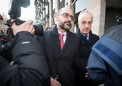 © Licensed to London News Pictures. 06/02/2018. London, UK. PHILIP GREEN (right), former chairman of Carillion, leaves Portcullis house in London where former bosses of the outsourcing firm Carillion have given evidence to a Business, Energy and Industrial Strategy Committee and the Work and Pensions Committe. Carillion plc, a major government contractor, went in to administration in January 2018. Photo credit: Ben Cawthra/LNP