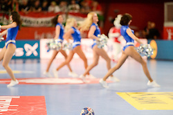 Cheerleaders during handball match between National teams of Denmark and Hungary on Day 2 in Preliminary Round of Men's EHF EURO 2018, on Januar 13, 2018 in Skolsko Sportska Dvorana, Varazdin, Croatia. Photo by Mario Horvat / Sportida