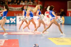 Cheerleaders during handball match between National teams of Denmark and Hungary on Day 2 in Preliminary Round of Men's EHF EURO 2018, on Januar 13, 2018 in Skolsko Sportska Dvorana, Varazdin, Croatia. Photo by Mario Horvat / Sportida