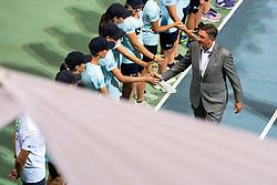 Borut Pahor, president of Slovenia, at award ceremony after final match during Day 10 of ATP Challenger Zavarovalnica Sava Slovenia Open 2019, on August 18, 2019 in Sports centre, Portoroz/Portorose, Slovenia. Photo by Matic Klansek Velej / Sportida