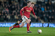 Gary Gardner (Nottingham Forest) runs with the ball during the Sky Bet Championship match between Hull City and Nottingham Forest at the KC Stadium, Kingston upon Hull, England on 15 March 2016. Photo by Mark P Doherty.