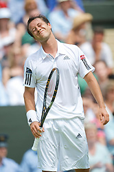 LONDON, ENGLAND - Friday, June 26, 2009: Philipp Kohlschreiber (GER) during the Gentlemen's Singles 3rd Round match on day five of the Wimbledon Lawn Tennis Championships at the All England Lawn Tennis and Croquet Club. (Pic by David Rawcliffe/Propaganda)