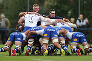 Another failed scrum during the Rugby Friendly match between Edinburgh Rugby and Bath Rugby at Meggetland Sports Compex, Edinburgh, Scotland on 17 August 2018.