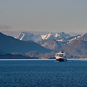 Three weeks aboard the Kong Harald. Hurtigruten, the Coastal Express. The Midnatsol.