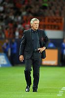 FOOTBALL - FRENCH CHAMPIONSHIP 2012/2013 - L1 - PARIS SG v FC LORIENT - 11/08/2012 - PHOTO JEAN MARIE HERVIO / REGAMEDIA / DPPI - CARLO ANCELOTTI ( PSG COACH )