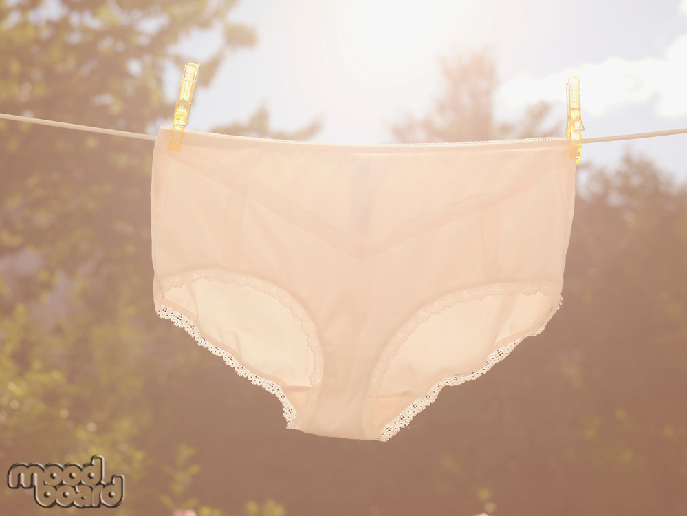 Underpants on clothesline
