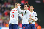 Ben Chilwell of England applauds the home fans after the UEFA European 2020 Qualifier match between England and Czech Republic at Wembley Stadium, London, England on 22 March 2019.