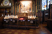 Interior view of the Basicila of Notre Dame, Montreal, Quebec, Canada.