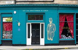 Exterior of Barologist restaurant in Leith , Scotland, UK