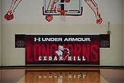 Under Armour branding in the basketball gym at Cedar Hill High School in Cedar Hill, Texas on August 24, 2016. &quot;CREDIT: Cooper Neill for The Wall Street Journal&quot;<br /> TX HS Football sponsorships