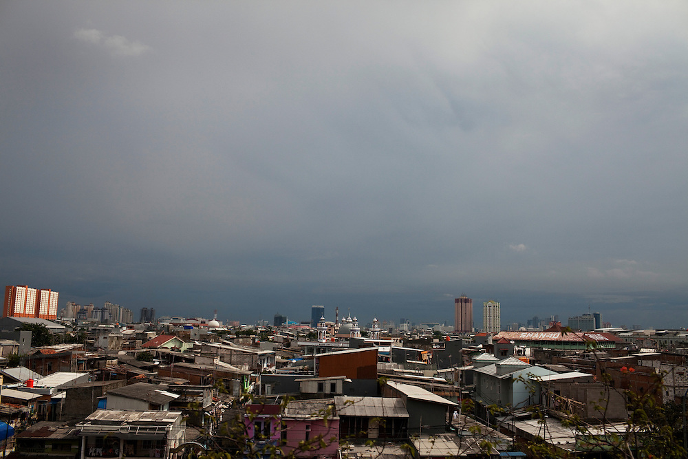 View over a poor part of the city. Jakarta, Indonesia.