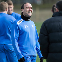 St Johnstone Training....11.04.14<br /> Lee Croft all smiles during training this morning ahead of Sunday's Scottish Cup semi-fnal against Aberdeen.<br /> Picture by Graeme Hart.<br /> Copyright Perthshire Picture Agency<br /> Tel: 01738 623350  Mobile: 07990 594431
