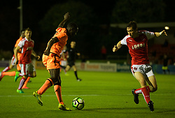 LEYLAND, ENGLAND - Friday, September 1, 2017: Liverpool's Bobby Adekanye during the Lancashire Senior Cup Final match between Fleetwood Town and Liverpool Under-23's at the County Ground. (Pic by Propaganda)