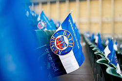 A general view of Bath Rugby flags prior to the match - Mandatory byline: Patrick Khachfe/JMP - 07966 386802 - 25/01/2020 - RUGBY UNION - The Recreation Ground - Bath, England - Bath Rugby v Leicester Tigers - Gallagher Premiership