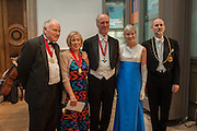 PAUL HUXLEY; EILEEN COOPER; CHARLES SAUMERAZ SMITH; CHARLOTTE VERITY; PROF CHRISTOPHER LE BRUN, Royal Academy of Arts Annual dinner. Piccadilly. London. 29 May 2012.
