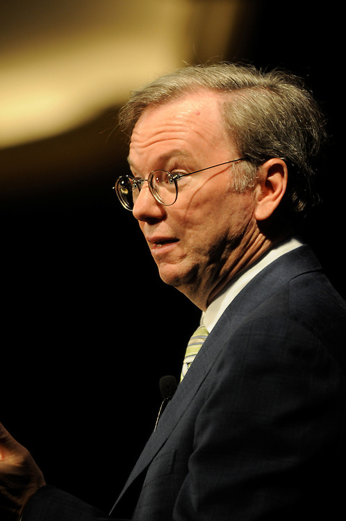 Dr. Eric Schmidt, CEO and Chairman of Google addressing the members of the Economic Club of Washington at the Ritz Carlton in Washington DC