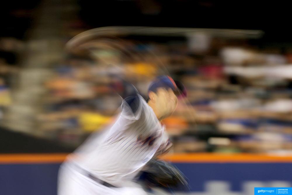 Pitcher Matt Harvey, New York Mets, pitching during the New York Mets Vs Toronto Blue Jays MLB regular season baseball game at Citi Field, Queens, New York. USA. 16th June 2015. Photo Tim Clayton