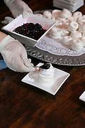 Making a Pavlova dessert