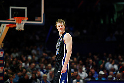Nov 21, 2008; New York, NY, USA; Duke Blue Devils forward Kyle Singler (12) takes a break during the 2K Sports Classic Championship game against the Michigan Wolverines at Madison Square Garden. Duke won 71-56.