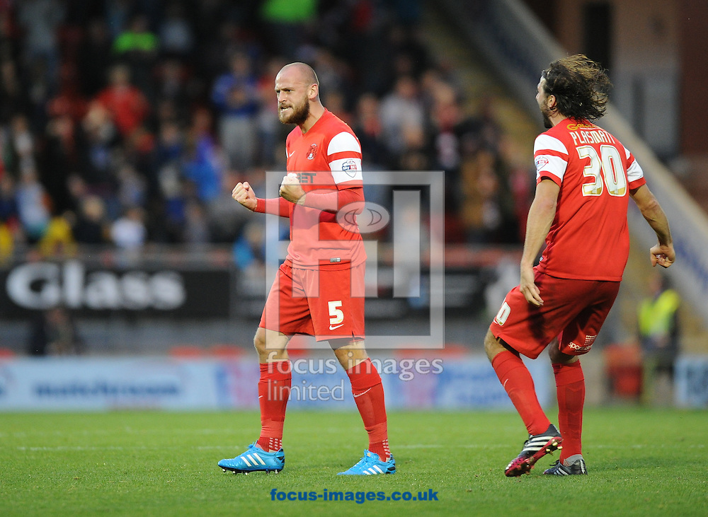 Scott Cuthbert of Leyton Orient  celebrates scoring the equaliser to make it 1-1 during the Sky Bet League 1 match at the Matchroom Stadium, London<br /> Picture by Alan Stanford/Focus Images Ltd +44 7915 056117<br /> 01/11/2014