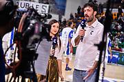Giulia Cicchine, Andrea Meneghin<br /> Banco di Sardegna Dinamo Sassari - AX Armani Exchange Olimpia Milano<br /> Legabasket LBA Serie A Postemobile 2018-2019<br /> Sassari, 16/12/2018<br /> Foto L.Canu / Ciamillo-Castoria