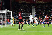 Goal - Michael McGovern (33) of Norwich City is beaten by a Steve Cook (3) of AFC Bournemouth goal to make the score 2-1 during the EFL Cup 4th round match between Bournemouth and Norwich City at the Vitality Stadium, Bournemouth, England on 30 October 2018.