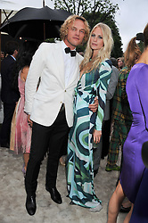 POPPY DELEVINGNE and Pucci designer PETER DUNDAS at the annual Serpentine Gallery Summer Party sponsored by Burberry held at the Serpentine Gallery, Kensington Gardens, London on 28th June 2011.