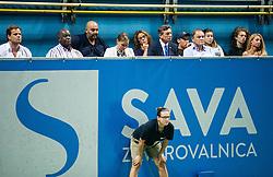Peter Bossman, mayor of Piran, Borut Pahor and Marko Umberger during Final Singles match at Day 9 of ATP Challenger Zavarovalnica Sava Slovenia Open 2018, on August 11, 2018 in Sports centre, Portoroz/Portorose, Slovenia. Photo by Vid Ponikvar / Sportida