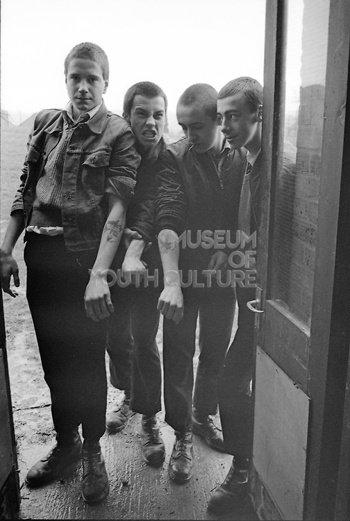 Russell, Edema, Symond and Shawn at Hawthorne Road, High Wycombe, UK, 1980's