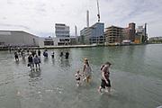 Münster, Germany. Opening days of Skulptur Projekte 2017.<br /> Ayşe Erkmen: On Water [Auf dem Wasser], 2017