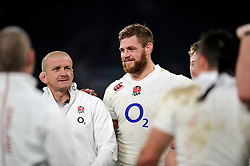 Dave Attwood of England is all smiles - Photo mandatory by-line: Patrick Khachfe/JMP - Mobile: 07966 386802 29/11/2014 - SPORT - RUGBY UNION - London - Twickenham Stadium - England v Australia - QBE Internationals