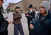 LAMBETH WALK, SOUTH LONDON 2002. BOYS EXCLUDED FROM SCHOOL.
