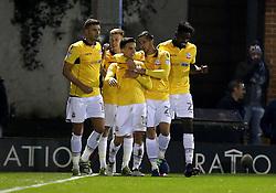 Zach Clough of Bolton Wanderers celebrates with teammates after scoring a goal to make it 1-0 - Mandatory by-line: Robbie Stephenson/JMP - 24/10/2016 - FOOTBALL - Gigg Lane - Bury, England - Bury v Bolton Wanderers - Sky Bet League One