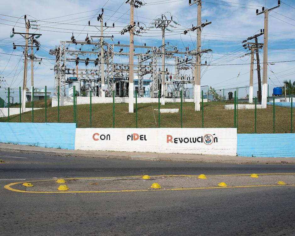 Electric network in Cienfuegos