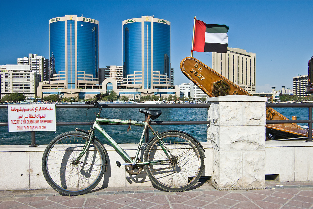 Contrast between old and new in Dubai