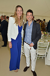MIMA LOPES and HENRY CHADWICK at the Cartier Queen's Cup Final 2016 held at Guards Polo Club, Smiths Lawn, Windsor Great Park, Egham, Surry on 11th June 2016.