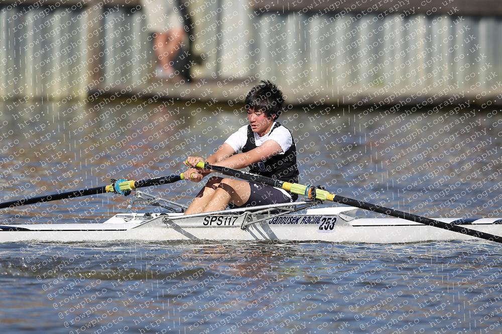 29.09.2012. Wallingford Long Distance Sculls 2012, The River Thames. Division 1. J15A 1x. St Pauls School Boat Club.