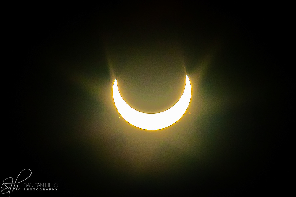 Eclipse seen from San Tan Valley, AZ