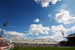 Football: Germany, 2. Bundesliga, FC St. Pauli, Hamburg, 11.08.2012.Millerntor Stadion, stadium, construction area.© pixathlon