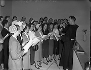 Choir of Adam and Eve's Church, Merchants Quay, Dublin are conducted by Fr Cassian (Order of Friars Minor) at Dedication of New Franciscan Church at Rossnowlagh, Co. Donegal..29/06/1952