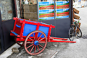 Red and Blue handcart