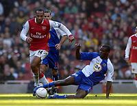 Photo: Olly Greenwood.<br />Arsenal v Blackburn Rovers. The FA Cup. 17/02/2007. Arsenal's Thierry Henry and Blackburn's Aron Mokoena