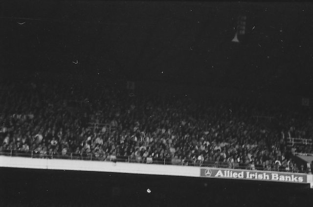 View of the crowds in the stands during the All Ireland Senior Gaelic Football Championship Final Kerry v Dublin at Croke Park on the 22nd September 1985. Kerry 2-12 Dublin 2-08.