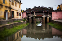 The old Japanese covered bridge in Hoi An, Vietnam.