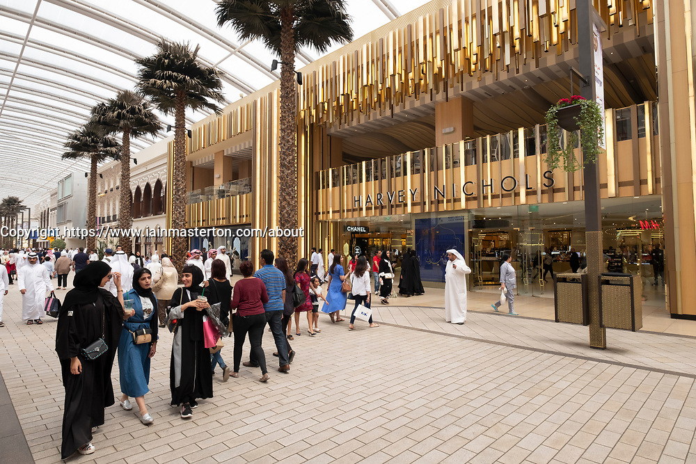 Harvey Nichols store at The Avenues shopping mall in Kuwait City, Kuwait.