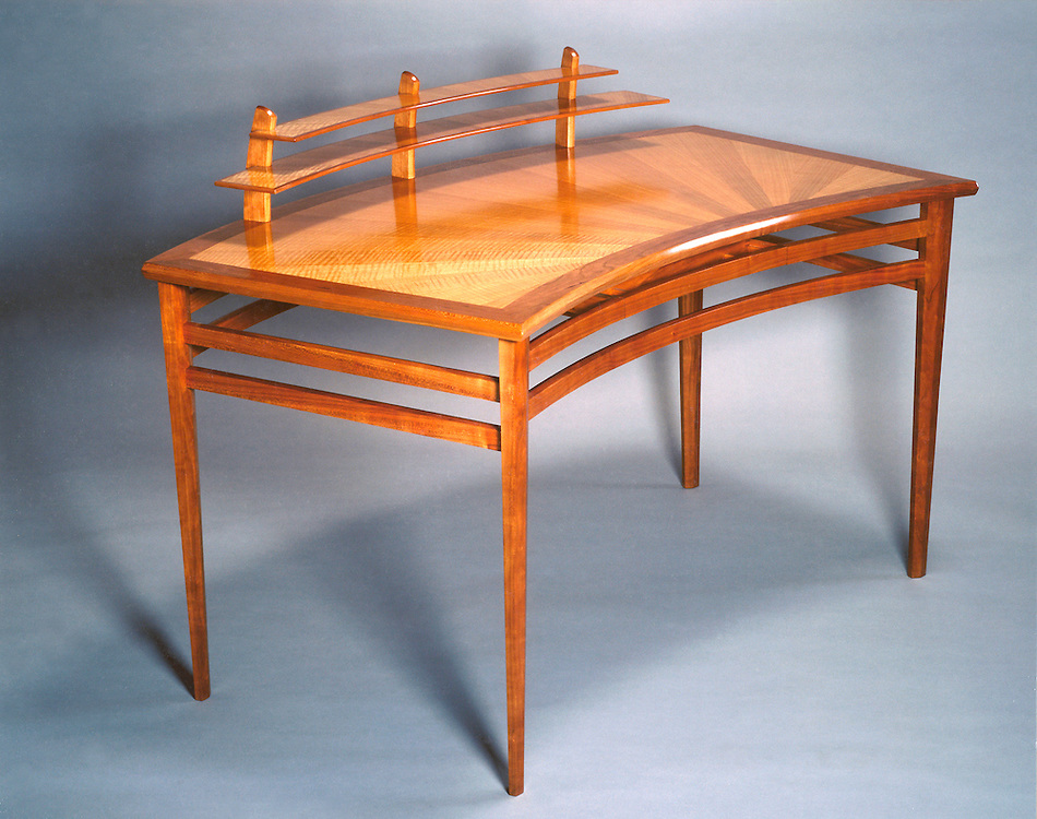 Writing desk<br /> Anigre and Cherry with hand rubbed tung oil finish