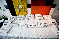 T-shirts for Slovenian players in a Andel's Hotel during Eurobasket 2009, on September 15, 2009 in  Lodz, Poland.  (Photo by Vid Ponikvar / Sportida)